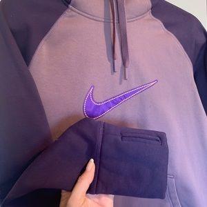 Purple Nike Therma-Fit Hoodie Sweatshirt